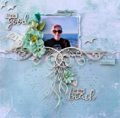Dusty Attic Dec Mood Board LO - chipboard, stencils, beach