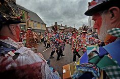 Red Leicester Men. The 32nd Annual Whittlesey Straw Bear Festival.