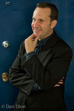 Portrait of comic Jimmy Pardo by photographer Dan Dion.
