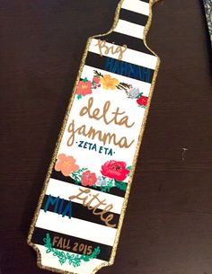 Get an unfinished paddle at Something Greek and create your own! #DeltaGamma…