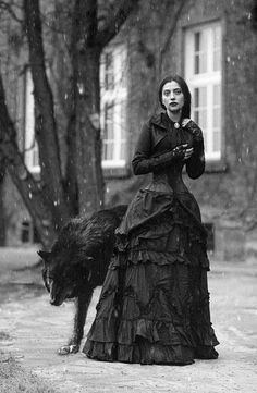 woman and her wolf