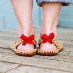 Ganchillo patrón de zapatillas - zapatos (tamaños de mujer 3-12)