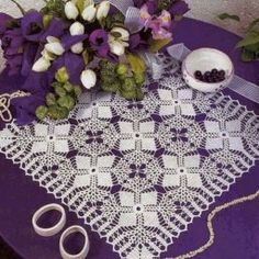 Square napkin, crocheted