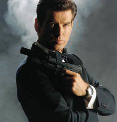 pierce brosnan as james bond in omega seamaster