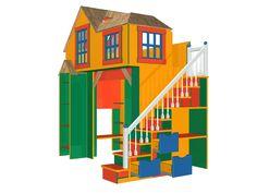 Вариант с более безопасной лестницей. Используем пространство под лестницей с пользой. Конструктор https://vk.com/constructor_online