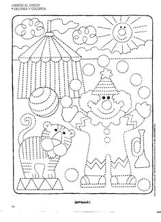 Preschool Worksheets, Preschool Learning, Kindergarten Activities, Preschool Activities, Preschool Circus, Circus Crafts, Pre Writing, Writing Skills, Colouring Pages