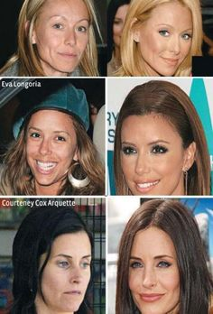 - Celebs with and without make-up