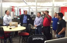 FireHost CSO Jeff Schilling explains FireHost's security operations to Rep. Will Hurd.