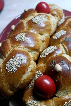 Greek Desserts, Greek Recipes, Easter Projects, Easter Recipes, Pretzel Bites, Sweets, Breakfast, Christmas, Food