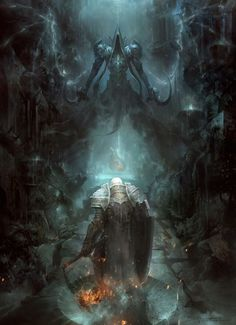 I did this painting for Diablo Fan art contest 2014 and winning place from over 4000 illustrations. High Fantasy, Fantasy World, Angel Demon, Demon Wings, Dragons, Fan Art, Angels And Demons, Video Game Art, Dark Souls