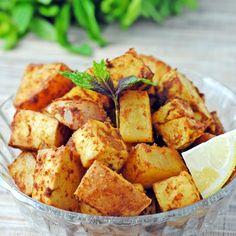 Lemon-Dijon Tofu - didn't make the potatoes or use veg. stock, but loved the tofu!