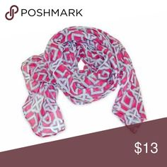 """Pink and White Soft and Airy Scarf Orange and White Scarf. My friends and I call this a Florida scarf. It's a thinner material that is soft and airy and perfect for Florida weather- when you want to wear a scarf, but it is just too hot outside.  Fiber Content: 100% polyester  Measures: Approx 28"""" x 70""""  Boutique items are from my gift shop Florida Farmers Market in the Florida Panhandle. Items shipped same day or next day. My husband I have been selling online for 10 years. If you have any…"""