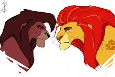 Kion and Kovu ~ by Solri-Elara on DeviantArt Lion King Tree, Lion King 1, Lion King Fan Art, Disney Lion King, Art Roi Lion, Lion Art, Animal Sketches, Animal Drawings, Lion King Names