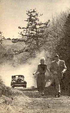 Marilyn with Joe visiting a fishing village in Japan during their 'honeymoon'