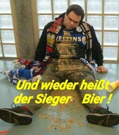 BIER lustig witzig Sprüche Bild Bilder. Und wieder heißt der Sieger Bier !