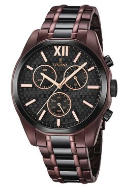 Buy FESTINA F16859/1 Bicolor Chronograph Mens Watch now from uhrcenter Watch Shop. ✓Official Festina Stockist!