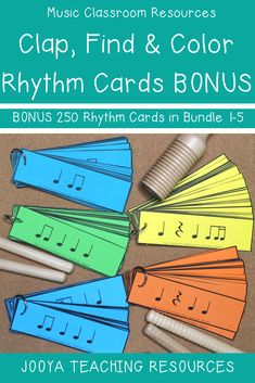 Grab your BONUS 250 Rhythm cards with the Clap, Find and Color Bundle. These FREE printable rhythm cards are great for composition activities, learning centers, performance activities, as lesson ideas Elementary Music Lessons, Music Lessons For Kids, Music Lesson Plans, Music For Kids, Upper Elementary, Piano Lessons, Elementary Schools, Music Activities For Kids, Compas Musical