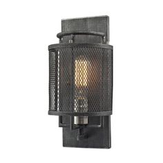 Slatington 1 Light Wall Sconce In Silvered Graphite And Brushed Nickel 31235/1