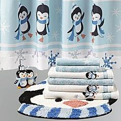 penguin bathroom accessories | Penguin Holiday Bath Collection - Gifts - Kitchen & Home Decor ...