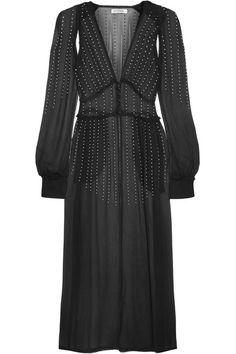 Attico   Ginger embellished silk-georgette dress   NET-A-PORTER.COM