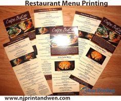 270 Best Restaurant Menu Printing Images Menu Printing