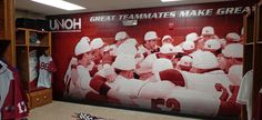 University of Northwestern Ohio (UNOH) Baseball locker room wall mural. See more of UNOH's athletic facility projects: http://gamedayvision.com/gameday-projects/unoh/