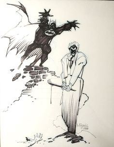 Mike Mignola Batman Death in the Family alternate cover from 1988, in Kevin Hoffman's Mike Mignola Comic Art Gallery Room