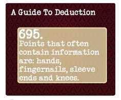 Book Writing Tips, Writing Help, Writing Prompts, Guide To Manipulation, A Guide To Deduction, The Science Of Deduction, How To Read People, Criminology, Mind Tricks