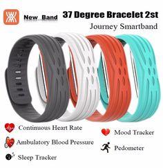 37 Degree 2nd Journey Bluetooth Smart Wristbands Heart Rate Pedometer Blood Pressure Fitness Tracker Sport band Bracelet Ring
