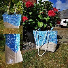 Mette Hansen sur Instagram: Sommetaske til strikketøj eller en tur til stranden. #patchworkquilt #patchwork #samba #sacôtin #tasker