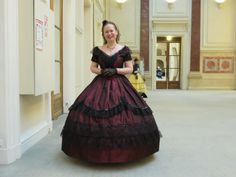 1860's Ballgown  worn by the Lovely Murielle..