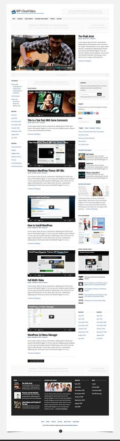 WP-ClearVideo WordPress Theme Review - Solostream