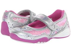 Stride Rite Disney Wish Lights Rapunzel MJ (Infant/Toddler/Little Kid) Silver/Pink/Purple - size 12