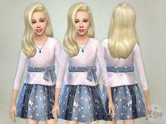 Kitty Knit Dress by lillka at TSR via Sims 4 Updates