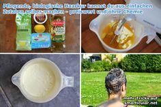 Pflegende Haarkur herstellen - rein aus biologischen Zutaten [Rezept]