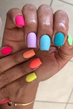 Want some ideas for wedding nail polish designs? This article is a collection of our favorite nail polish designs for your special day. Read for inspiration Nails Gelish, Neon Nails, My Nails, Gradient Nails, Neon Nail Art, Tribal Nails, Colorful Nail Art, Colorful Nail Designs, Gel Nail Art Designs