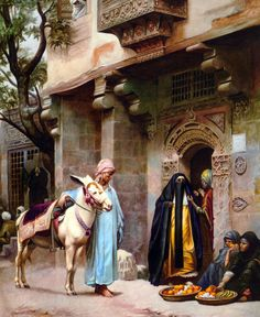 PAINTING.........STREET SCENE IN CAIRO........BY H.G. BIRCHALL.........GOOGLE IMAGES.........