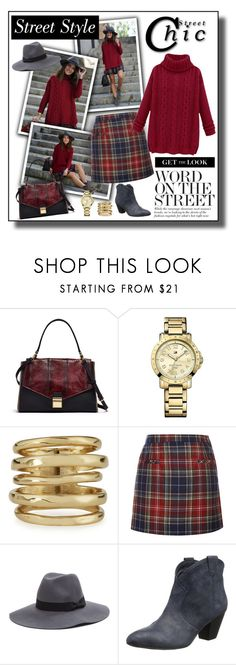 """""""Get the Look - Plaid Skirt Outfit"""" by helenehrenhofer ❤ liked on Polyvore featuring Trilogy, Tommy Hilfiger, Alexis Bittar, Oscar de la Renta, Ash, women's clothing, women's fashion, women, female and woman"""