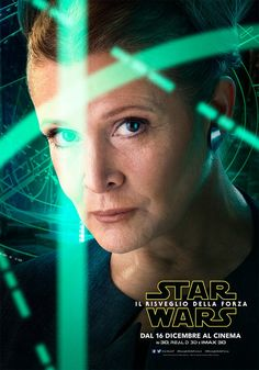 Star Wars Il Risveglio della Forza Character Poster - Leia (Carrie Fisher)