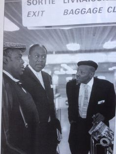 Willie Dixon, Memphis Slim and Sonny Boy Williamson II - Photograph: Jean-Pierre Leloir.