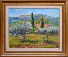 oliviers  | Format et technique 58 Oliviers en Provence T oile en 6F (41cm*33 cm ...
