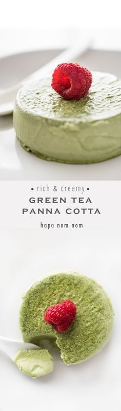 Tea Panna Cotta Rich and Creamy Green Tea Panna Cotta - so easy, it takes less than 10 minutes to prepare!Rich and Creamy Green Tea Panna Cotta - so easy, it takes less than 10 minutes to prepare! Just Desserts, Delicious Desserts, Dessert Recipes, Yummy Food, Panna Cotta, Green Tea Recipes, Small Baking Dish, Snacks Für Party, Sweet Tooth
