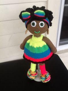 African American Crochet Doll by MyKindaThing on Etsy