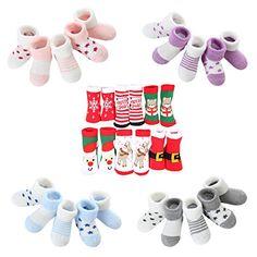 5ad4c9d622fe8 DEBAIJIA Cinq Paires Chaussettes Bébé Enfant 0-10 Ans Garçon Fille  Adolescents Coton Pur Doux