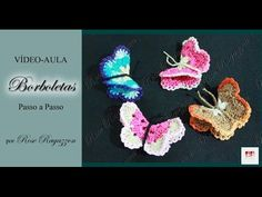 Imã de Geladeira em Croche - Borboleta Charmosa - Aprendendo Crochê - YouTube