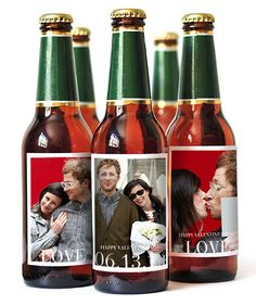If you're celebrating over drinks and barbecue fare, custom photo labels can help to personalize the event. Choose up to three photos of Dad and the kids (or his most-liked Instagram shots) and stick them onto bottles of his favorite beer.