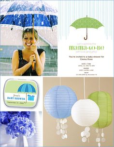 Sprinkle Baby Shower #baby #shower #decoration #rain #umbrella