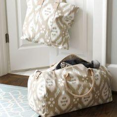Suzanne Kasler  Ikat Tote Bag and Duffel | Ballard Designs