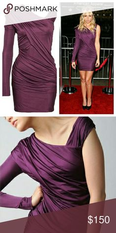 Alexander Wang Purple Stretch Dress Great condition. A bit wrinkled but otherwise perfect. T by Alexander Wang Dresses Mini