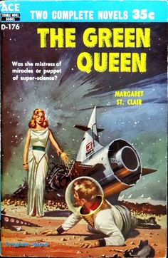 THE GREEN QUEEN | pulp cover science fiction
